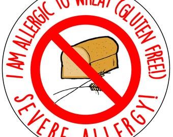 "2"" Allergy stickers (40)"