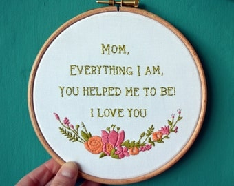 "Embroidery Kit ""I love you Mom"""