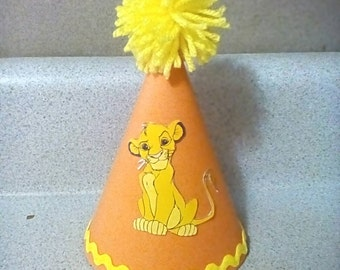 Lion king simba birthday party hat