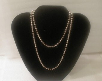 """Vintage 30"""" Necklace / Opera Length / Sterling Silver / Made in Italy / Signed 925 Italy"""