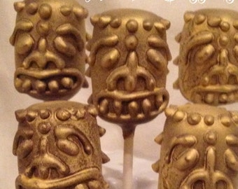 12 Tiki Doll cake pops, Hawaiian theme, Beach Party, Polynesian Luau