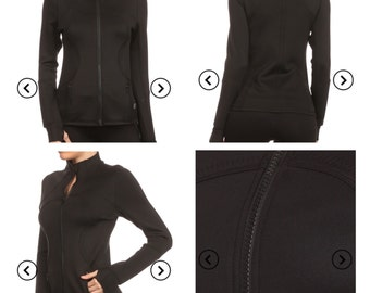 Tight black warmup jacket can be customized