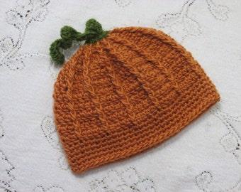 Pumpkin Hat - Orange Pumpkin - Fall Harvest Autumn Photo Prop - Baby Toddler Child Adult - Crochet Photo Prop - Hannahs Homestead2 Original