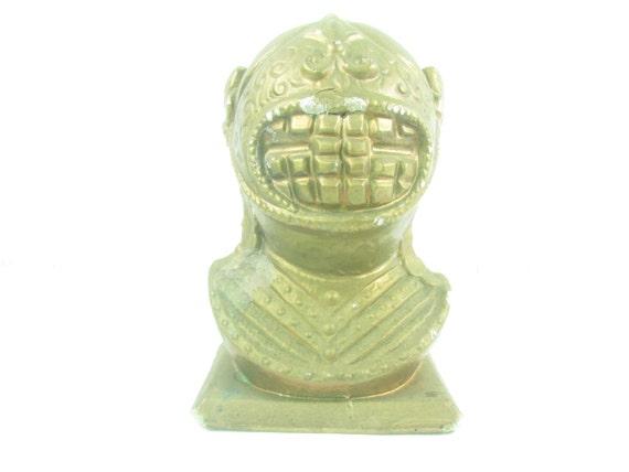 Colered Toy Money : Vintage money bankvintage toy s decor knights helmet