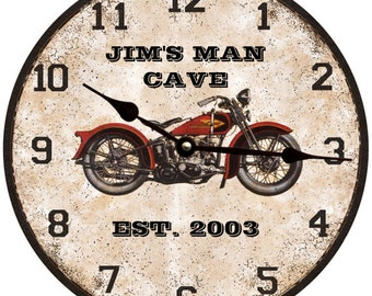 Motorcycle Clock-Personalized Motorcycle Clock