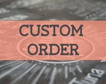 Custom Chalkboard Sign // Deposit for Personalized Design. Handmade and All Sizes Available.