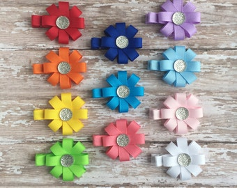 Cute Hair Clips - Baby Barrettes - Baby Hair Clips - Back to School Hair Bows - Hair Clip for Little Girls - Party Favors - Bows for Babies