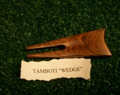 "A ""Reserved for Brandon"" Tamboti ""Wedge"" style divot repair tool"