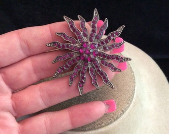 Vintage Purple Rhinestone Pin