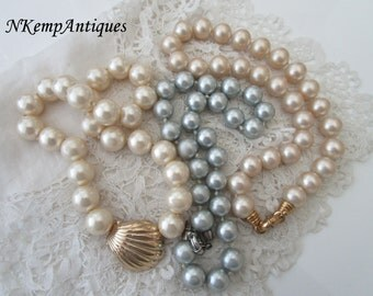 Vintage pearl necklace  x 3  for re-purpose