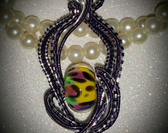 Rainbow Leopard Pendant