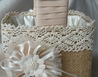 Flower girl basket, confetti basket, wedding basket.