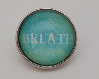 Glass Popper Snap Charm Aqua BREATH Snap Jewelry