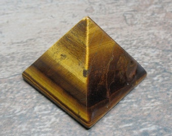 Tiger Eye Pyramid, 40 mm - Item 72826