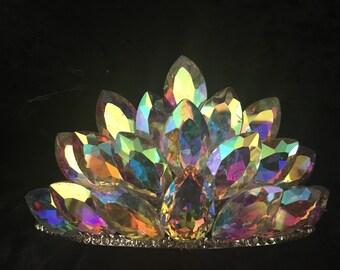 Crystal AB Comb- Style Tiara
