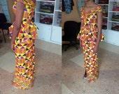 African kente skirt set
