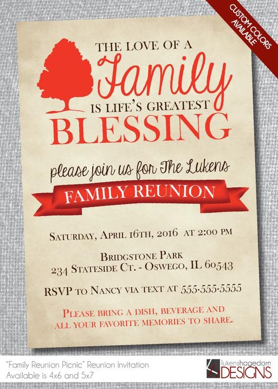 Rustic Family Reunion Invitation-Digital by ...