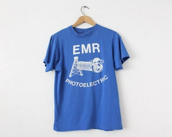 MEDIUM Vintage 1980s EMR Photoelectric (Smoker Smell) Soft and Thin Graphic T-Shirt