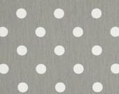 SALE FAT QUARTER Grey Polka dot Fabric home decor upholstery Premier Prints storm grey white  Shipsfast