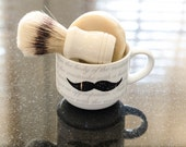 Bay Rum Old Fashioned Shaving Soap (all natural) gift set.  Great Father's Day or Birthday Gift. Shave set with mug and brush. Men's gift