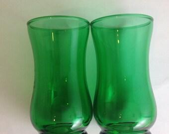 Lovely Emerald Green Juice Glasses