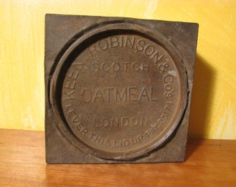 Early 1900's Advertising Tin Keen Robinson Scotch Oatmeal London