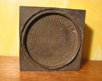 Early 1900's Advertising Tin Keen Robinson Scotch Oatmeal London