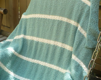 Soft Teal Throw