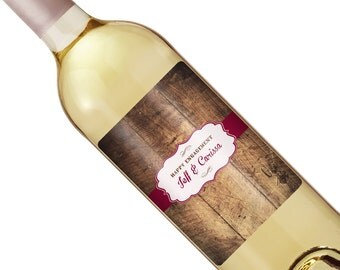 Rustic Wedding Wine Label - Custom Wine Label - Personalized Wine Label - Vintage Wedding Wine Bottle Label