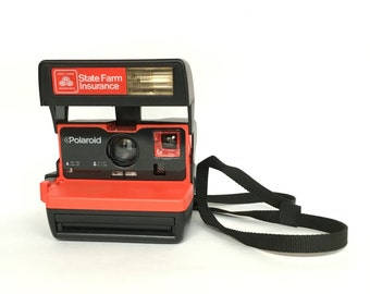 Vintage 1990s Rare State Farm Insurance Promotional Instant 600 Film Camera