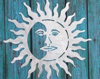 Metal Sun Wall Art sun metal wall art | etsy