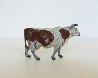 Vintage Britains Ltd. Spotted Farm Cow/Bull Figurine
