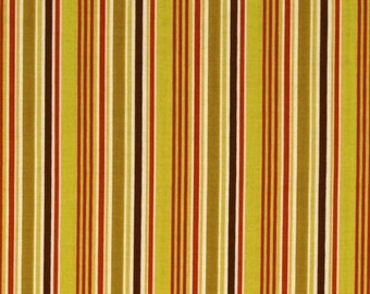 Extra 25% off Clearance 1/2 yard Indian Summer fabric by Zoe Pearn for Riley Blake  stripe green