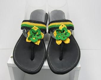 Jamaica Flower Sandals