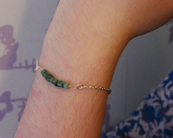 Emerald Stackable Bracelet