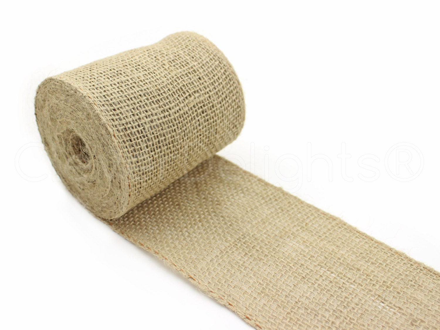 4 wired edge burlap ribbon 10 yards natural color for How to use burlap ribbon