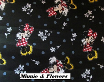 Disney's Minnie & Flowers  Cotton Fabric Minnie Mouse Prints  BTY  #452-2