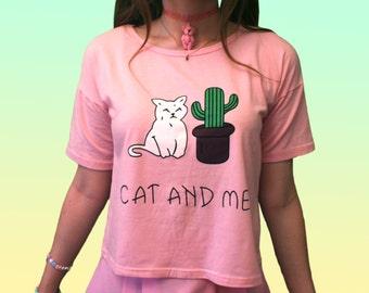 KAWAII CAT & ME Top // Cute Shirt Pastel Pink