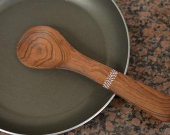 Medium decorative wooden spoon, cooking spoon, wood utensils, kitchen supplies, serving spoon