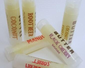 Lip Balm - Lip Gloss - Lip Butter - Custom Lip Balm - Flavored Lip Balm - Natural Lip Balm - Wedding Favors - Party Favors - Unflavored Balm