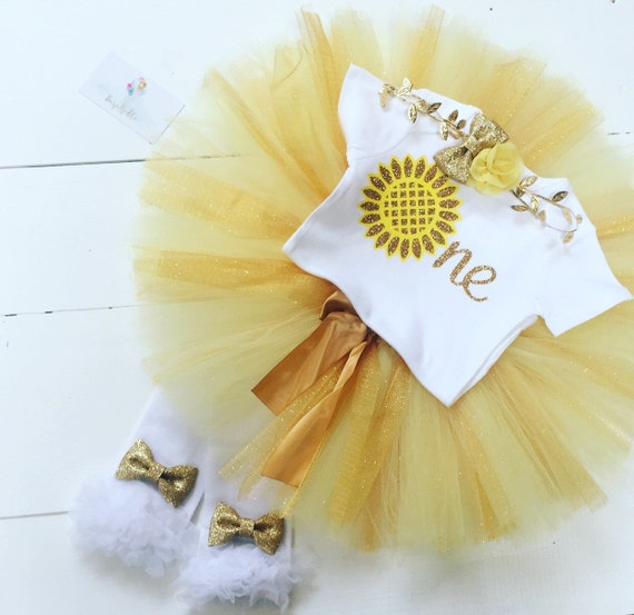 Items Similar To Sunflower First Birthday Outfit Baby Girl