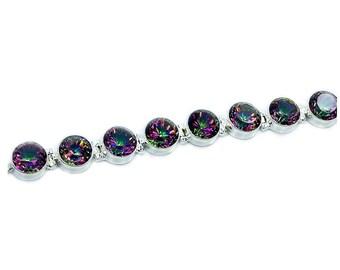 Incredible Mystic Topaz bracelet & .925 Sterling Silver Bracelet , AE67