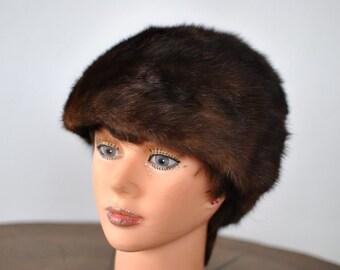 Vintage MINK FUR HAT ...(001)