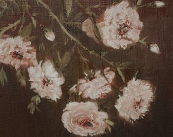 ORIGINAL oil painting - Garden Roses