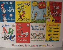 """Dr. Seuss/Cat in the Hat theme place mats-table decorations-theme party- set of 8, 11x9"""" each"""
