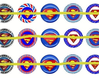 Superhero Bottlecap Images