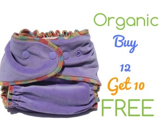 Organic AiO Cloth Diapers One Size Bamboo Cotton Momgaroo Diaper for Baby Gift Baby Shower Newborn Baby Diapers