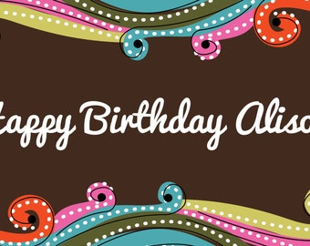 Personalized Happy Birthday Banner With Name