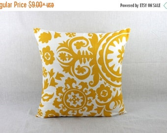 Yellow Pillow Covers 18x18 - Yellow Throw Pillow Cover - Yellow Accent Pillow Cover 0017