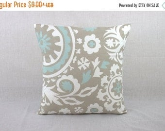 Grey Pillow Cover - 18 x 18 Pillow Cover -  Throw Pillow Cover 0022